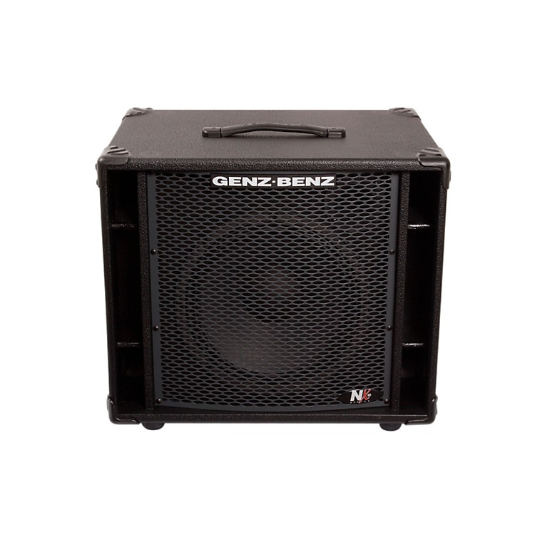 Genz Benz NEX2-112T 300W 1x12 Neodymium Bass Speaker Cabinet w/ Tweeter Black