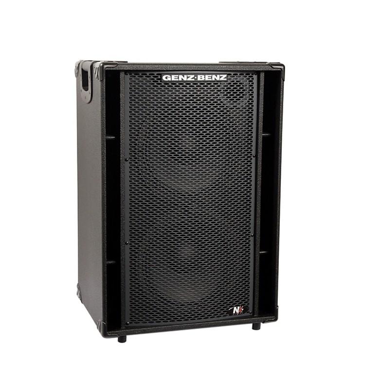 Genz BenzNEX2-212T 600W 2x12 Neodymium Bass Speaker Cabinet w/ Tweeter