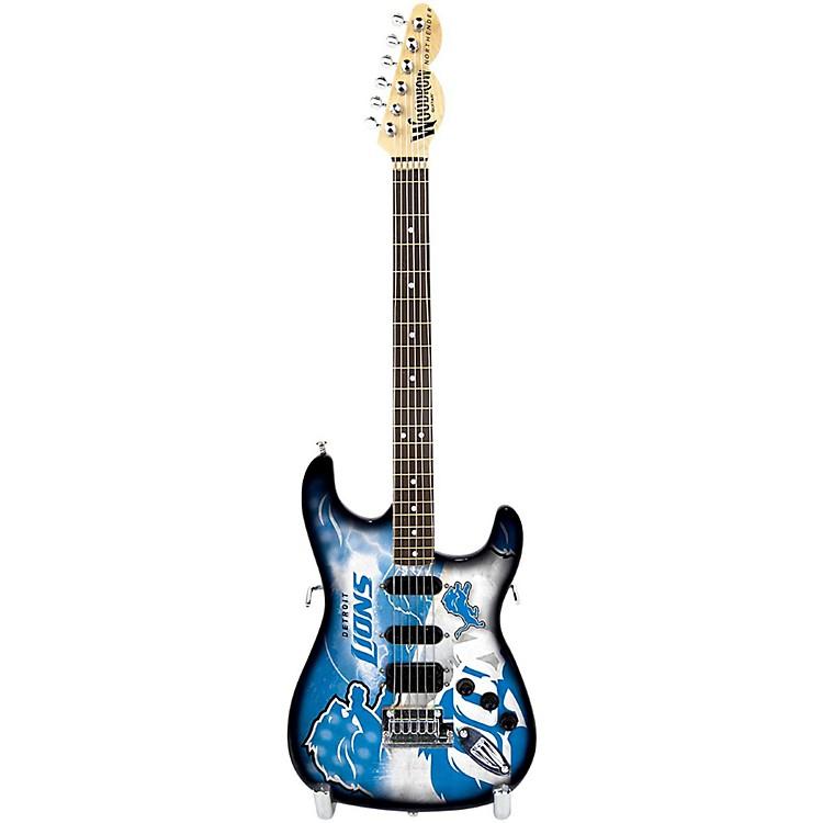 Woodrow GuitarsNFL 10-In Mini Guitar CollectibleDetroit Lions