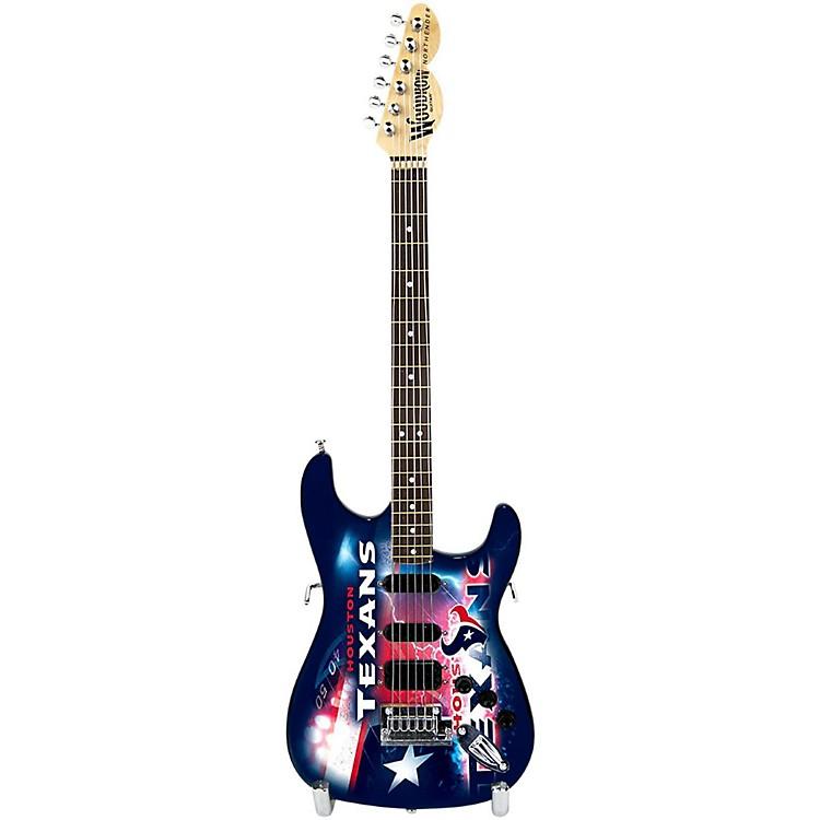 Woodrow GuitarsNFL 10-In Mini Guitar CollectibleHouston Texans