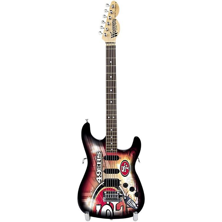 Woodrow GuitarsNFL 10-In Mini Guitar CollectibleSan Francisco 49ers