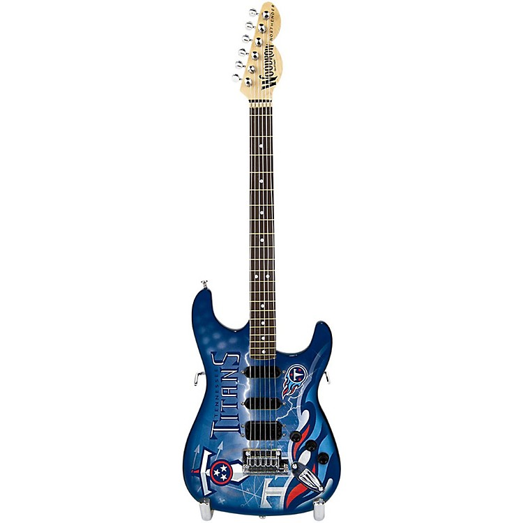 Woodrow Guitars NFL 10-In Mini Guitar Collectible Tennessee Titans