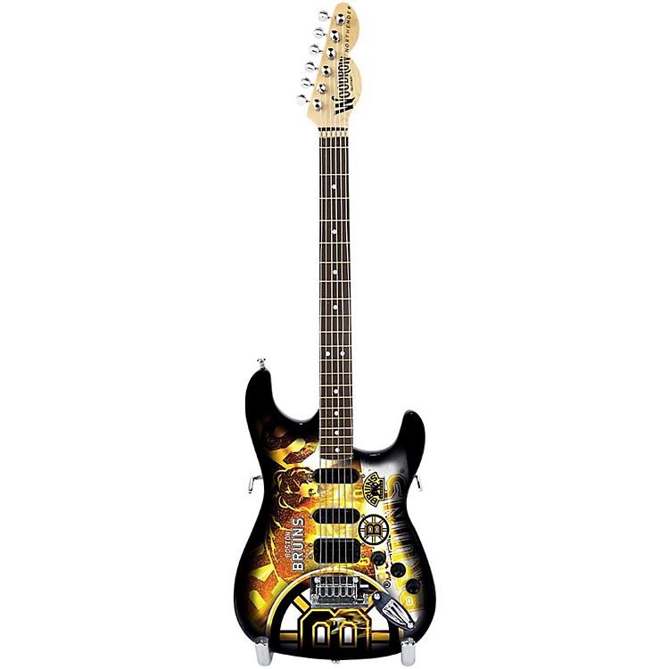 Woodrow GuitarsNHL 10 Inch Mini Guitar CollectibleBoston Bruins