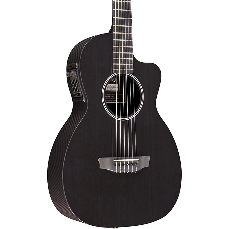 RainSong NP12 Nylon String Acoustic-Electric Guitar Black