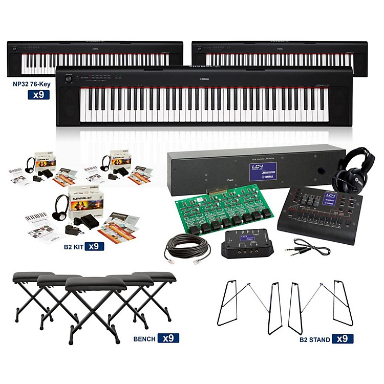 Yamaha NP32 76-Key Piaggero LC4 Keyboard Lab