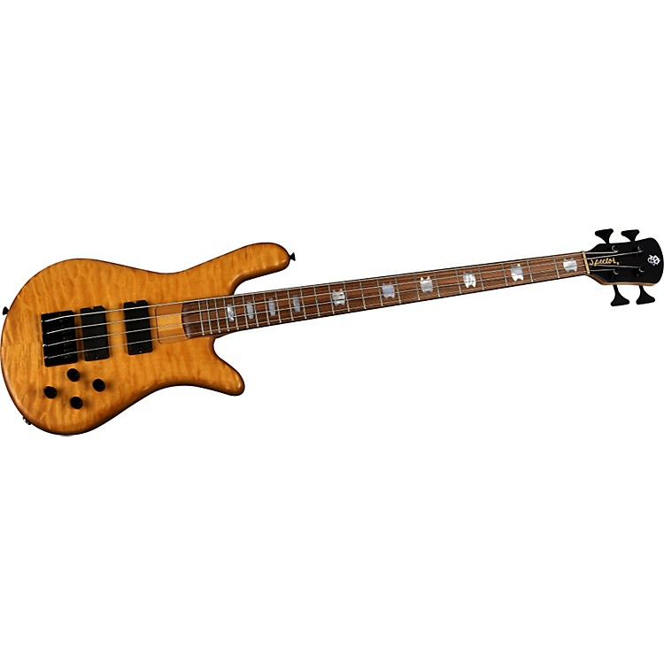 Spector NS-4H2-FM Quilted Maple Bass Guitar Amber
