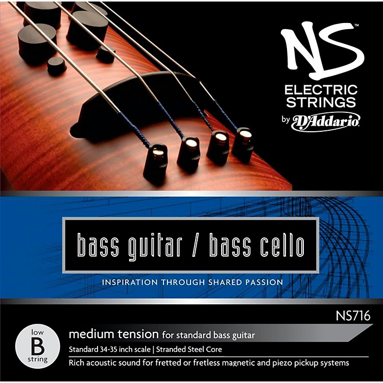 D'AddarioNS Electric Bass Cello / Electric Bass Low B String