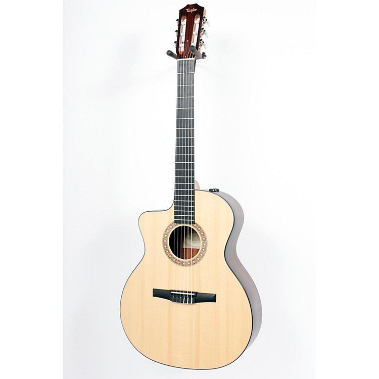 Taylor NS24-CE-G-L Grand Auditorium Left-handed Nylon-String Acoustic-Electric Guitar Natural 886830544170