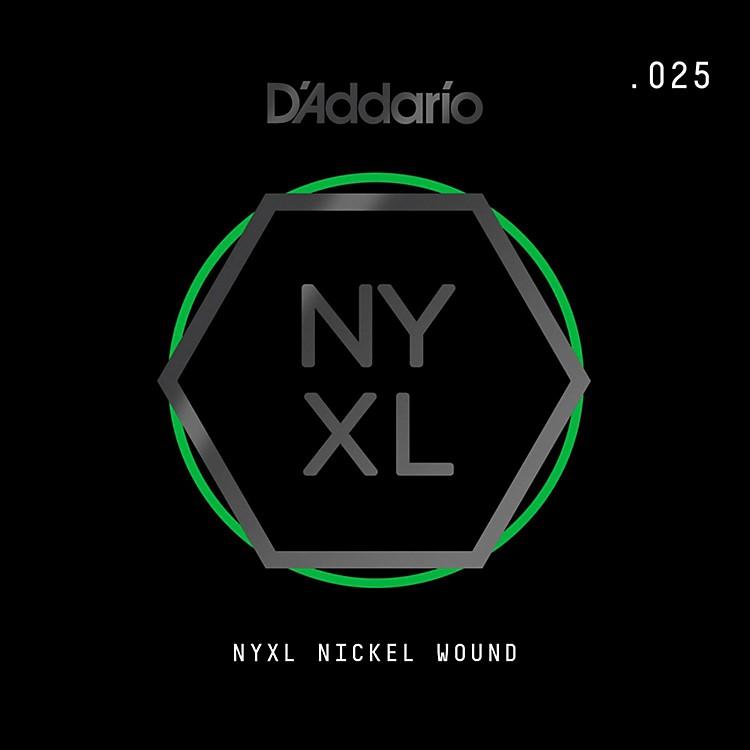D'AddarioNYNW025 NYXL Nickel Wound Electric Guitar Single String, .025
