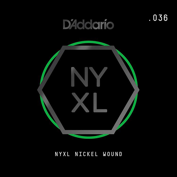 D'AddarioNYNW036 NYXL Nickel Wound Electric Guitar Single String, .036
