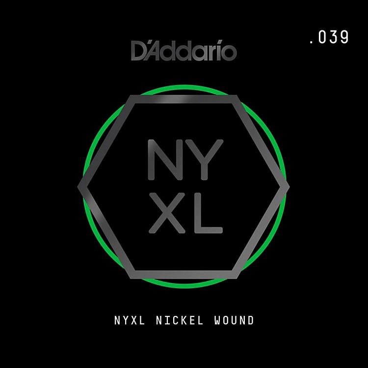 D'AddarioNYNW039 NYXL Nickel Wound Electric Guitar Single String, .039