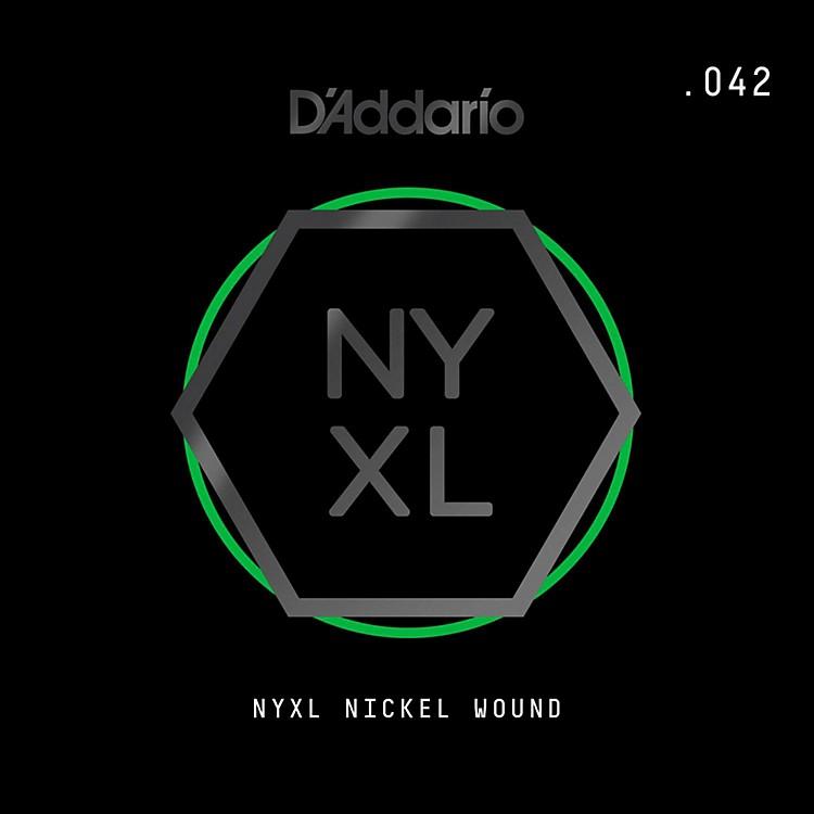 D'AddarioNYNW042 NYXL Nickel Wound Electric Guitar Single String, .042