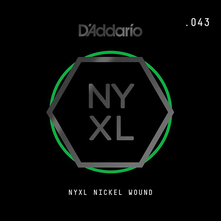 D'AddarioNYNW043 NYXL Nickel Wound Electric Guitar Single String, .043