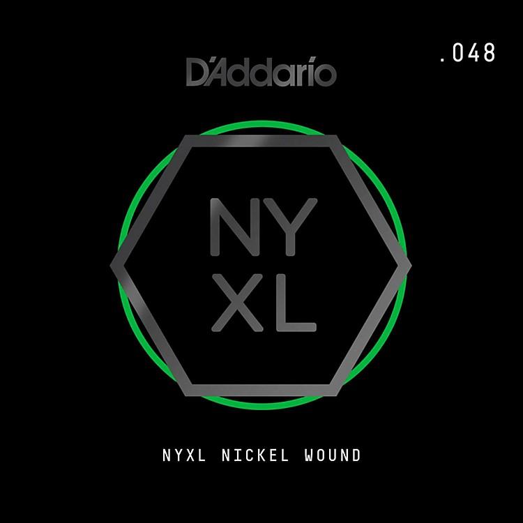 D'AddarioNYNW048 NYXL Nickel Wound Electric Guitar Single String, .048