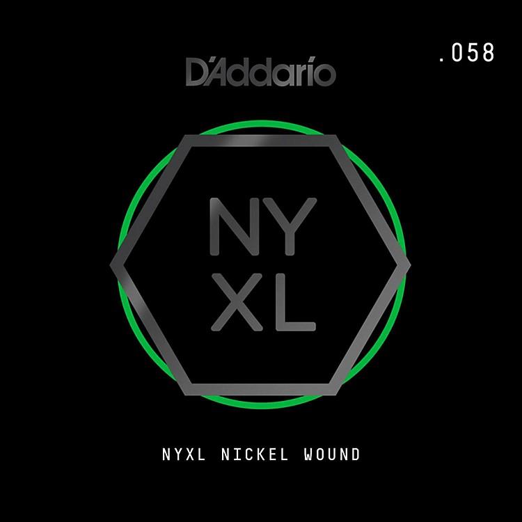 D'AddarioNYNW058 NYXL Nickel Wound Electric Guitar Single String, .058