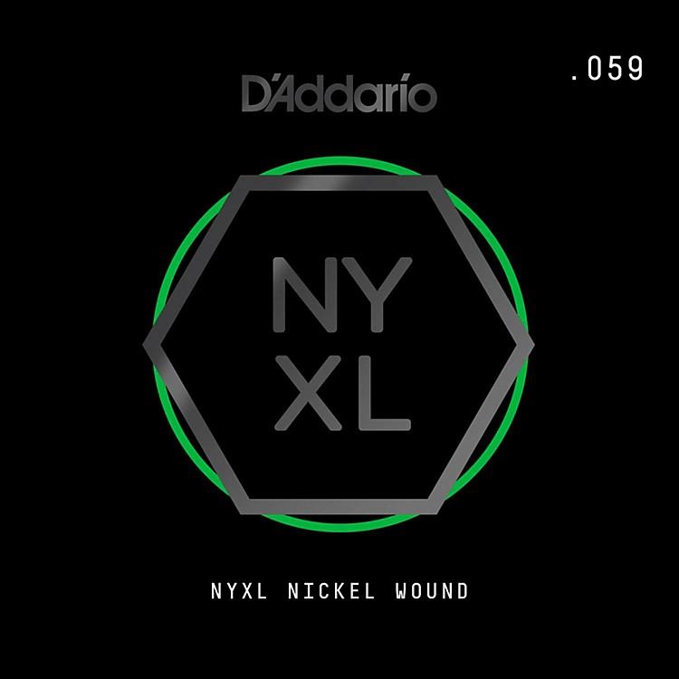 D'AddarioNYNW059 NYXL Nickel Wound Electric Guitar Single String, .059