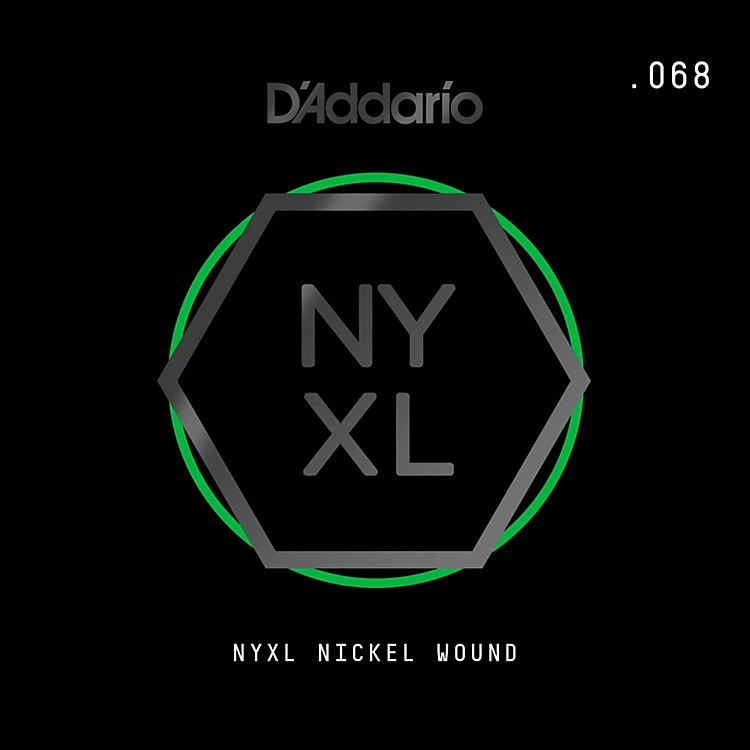 D'AddarioNYNW068 NYXL Nickel Wound Electric Guitar Single String, .068