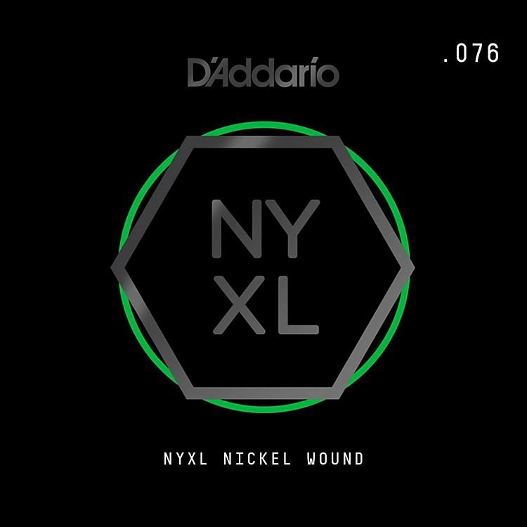D'AddarioNYNW076 NYXL Nickel Wound Electric Guitar Single String, .076