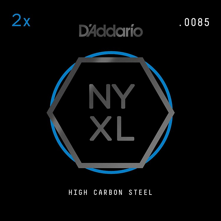 D'AddarioNYPL0085 Plain Steel Guitar Strings 2-Pack, .0085