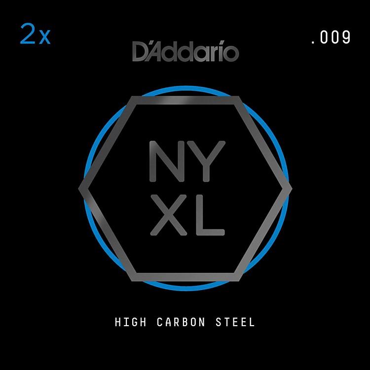 D'AddarioNYPL009 Plain Steel Guitar Strings 2-Pack, .009