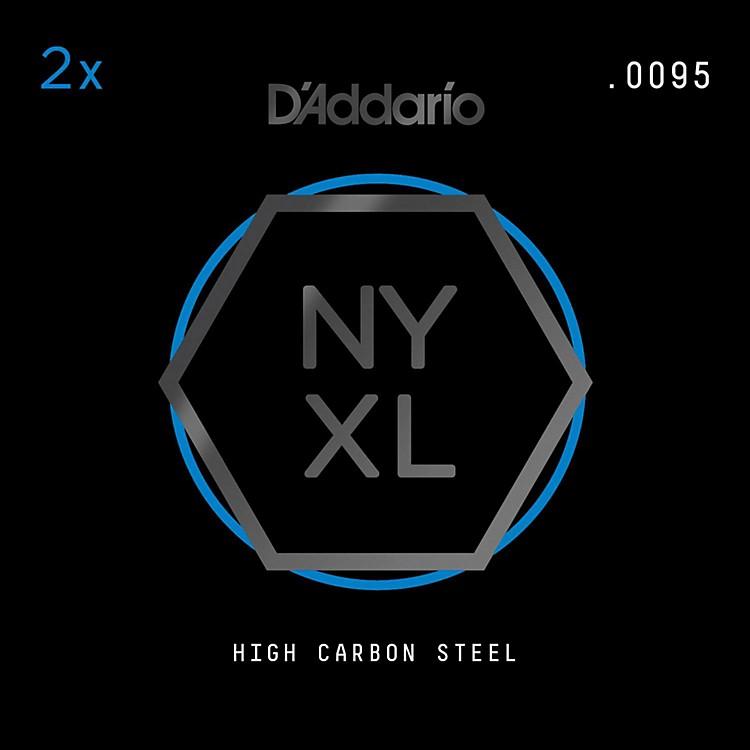 D'AddarioNYPL0095 Plain Steel Guitar Strings 2-Pack, .0095
