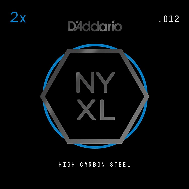 D'AddarioNYPL012 Plain Steel Guitar Strings 2-Pack, .012