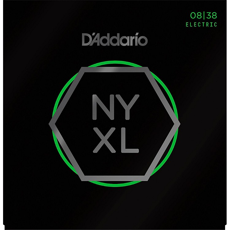 D'Addario NYXL Nickel Wound Extra Super Light Electric Guitar Strings (8-38)