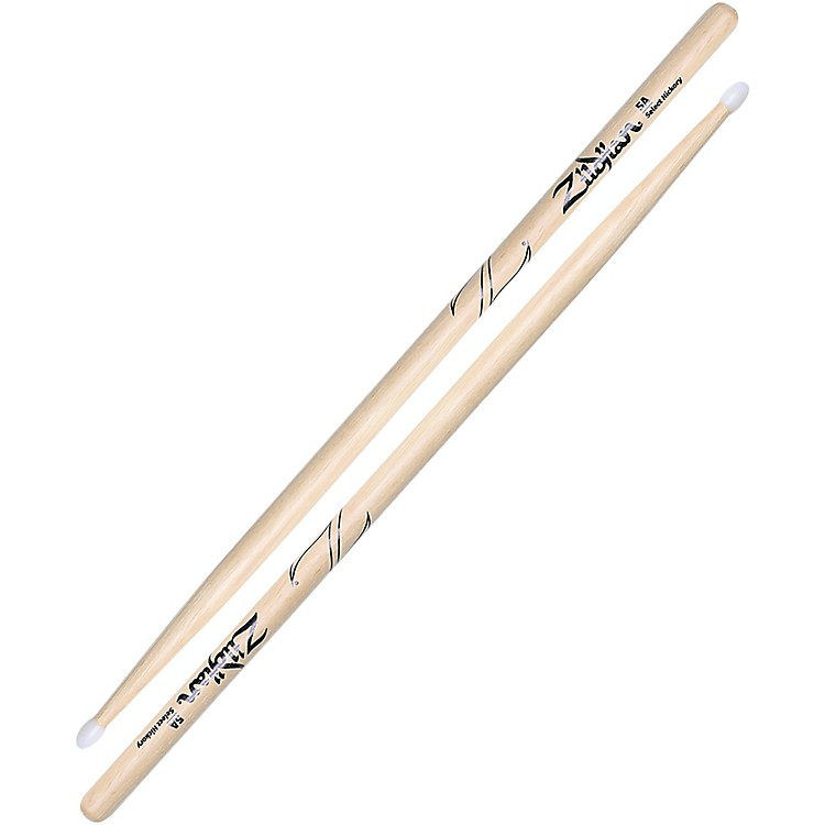 ZildjianNatural Hickory Drumsticks5ANylon