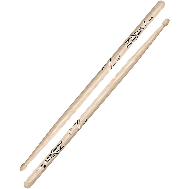 Zildjian Natural Hickory Drumsticks 5B Wood
