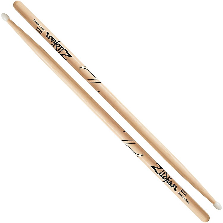 Zildjian Natural Hickory Drumsticks Jazz Nylon