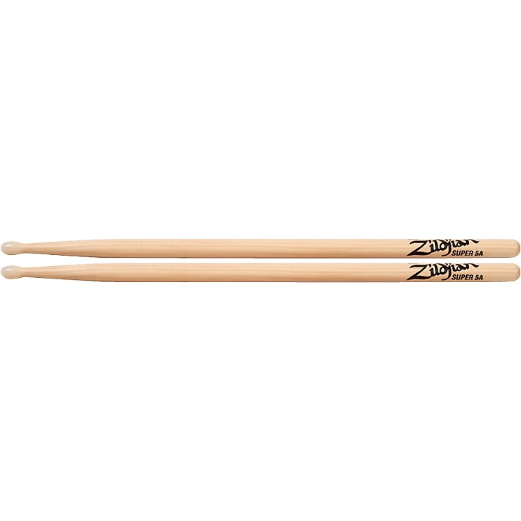 Zildjian Natural Hickory Drumsticks Super 5A Nylon