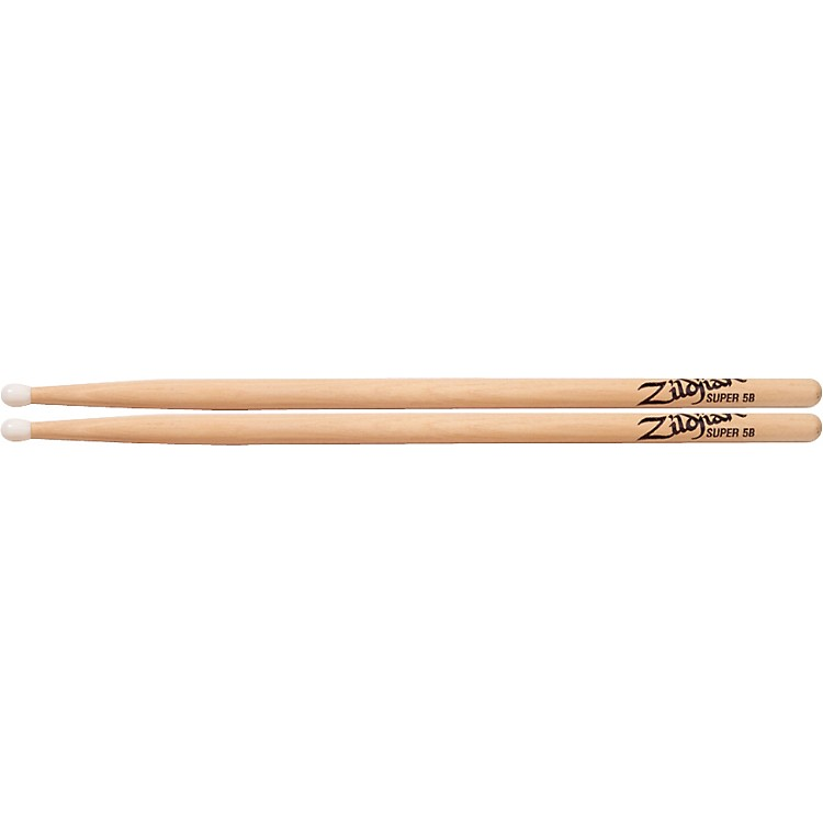 ZildjianNatural Hickory DrumsticksSuper 5BNylon