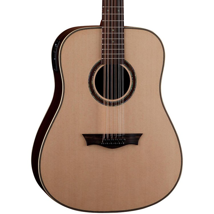 Dean Natural Series Dreadnought 12-String Acoustic-Electric Guitar with Aphex Natural