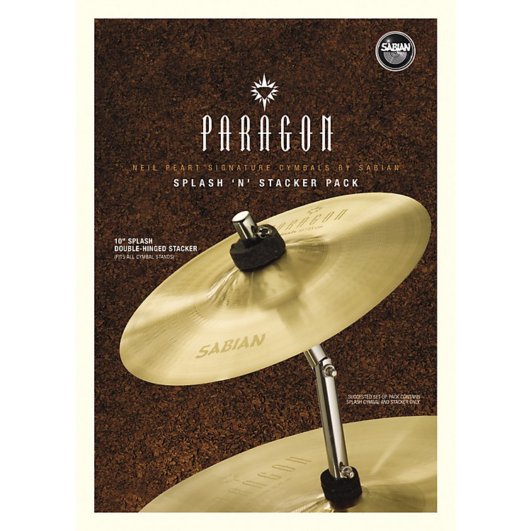 Sabian Neil Peart Paragon Splash 'n' Stacker Cymbal Pack  10 Inches