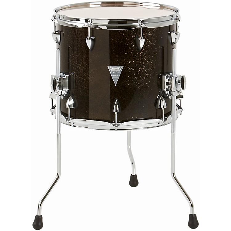 Orange County Drum & PercussionNewport Floor TomBlack Gold Glitter14 x 12 in.