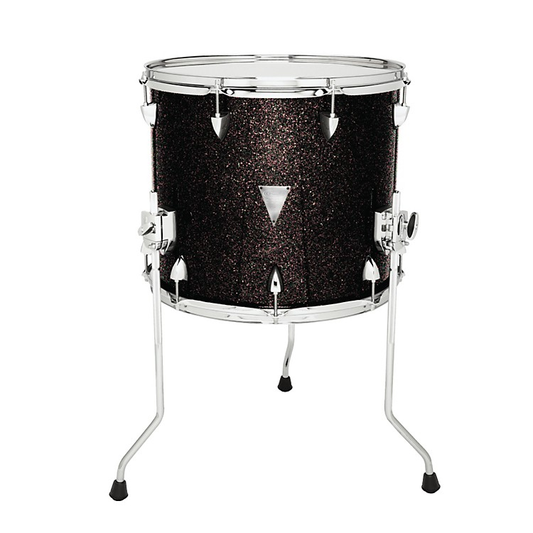 Orange County Drum & Percussion Newport Floor Tom Black Gold Glitter 18 X 16