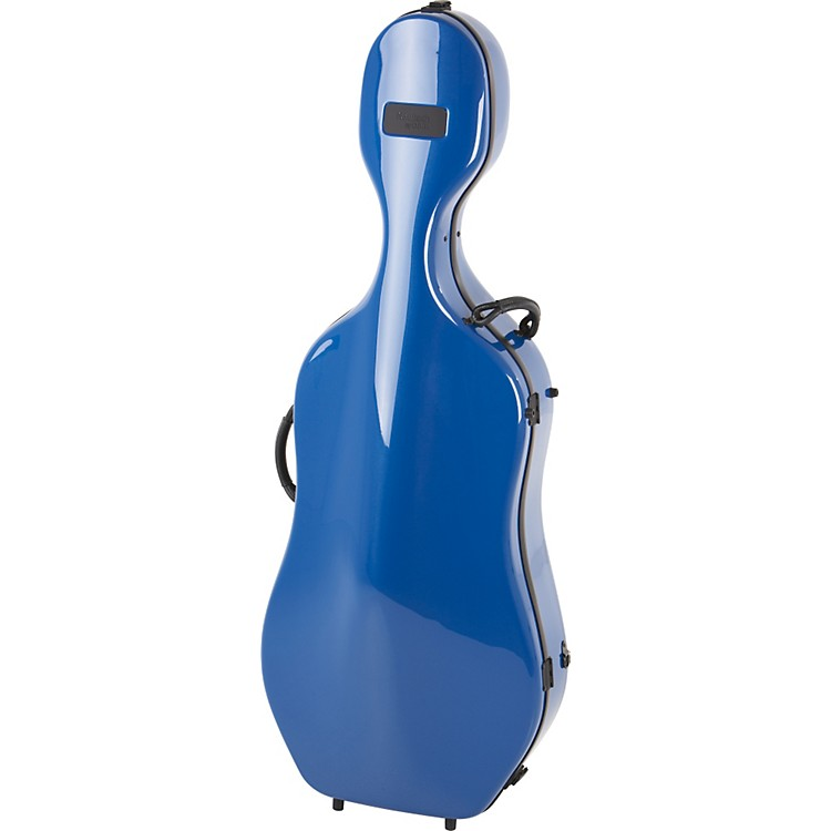 Bam Newtech Cello Case Blue, with Wheels