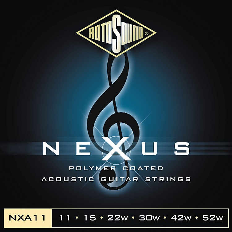 Rotosound Nexus Polymer Light Coated Acoustic Strings