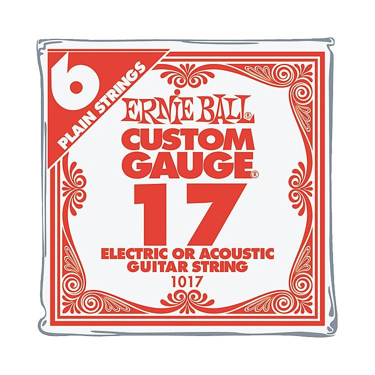 Ernie BallNickel Plain Single Guitar String.017 Gauge6-Pack