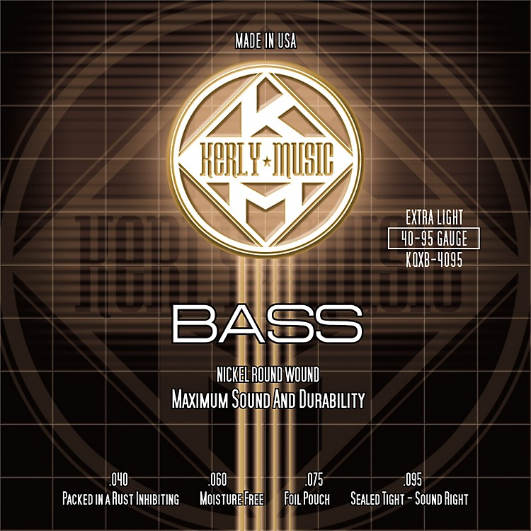 Kerly MusicNickel Plated Bass Strings Extra Light