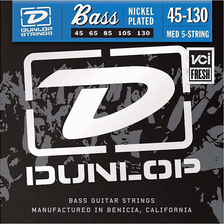DunlopNickel Plated Steel Bass Strings - Medium 5-String with 130