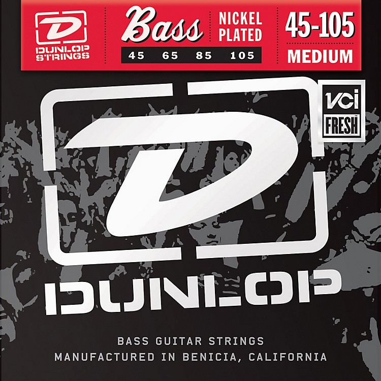 DunlopNickel Plated Steel Bass Strings - Medium