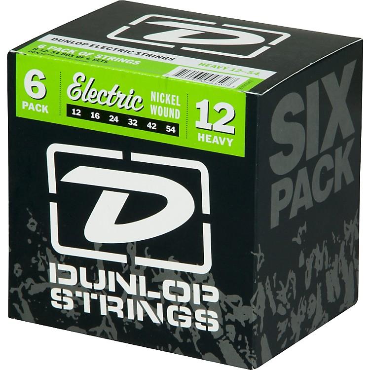 DunlopNickel Plated Steel Electric Guitar Strings Heavy 6-Pack