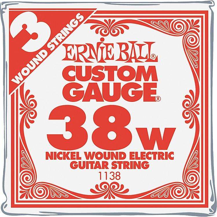 Ernie BallNickel Wound Single Guitar Strings 3-Pack.038 Gauge3-Pack