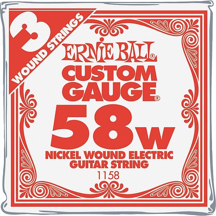 Ernie BallNickel Wound Single Guitar Strings 3-Pack.058 Gauge3-Pack