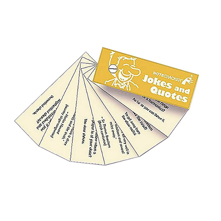 Music SalesNotecracker - Jokes And Quotes (pocket sized gift)