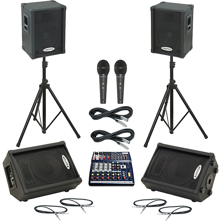 Soundcraft Notepad 124 / KPC12P Mains & Monitors Package