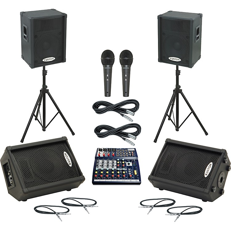 Soundcraft Notepad 124 / KPC15P Mains & Monitors Package