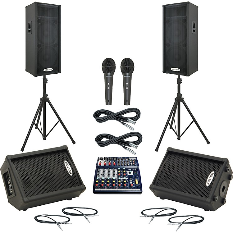 Soundcraft Notepad 124 / KPC215P Mains & Monitors Package