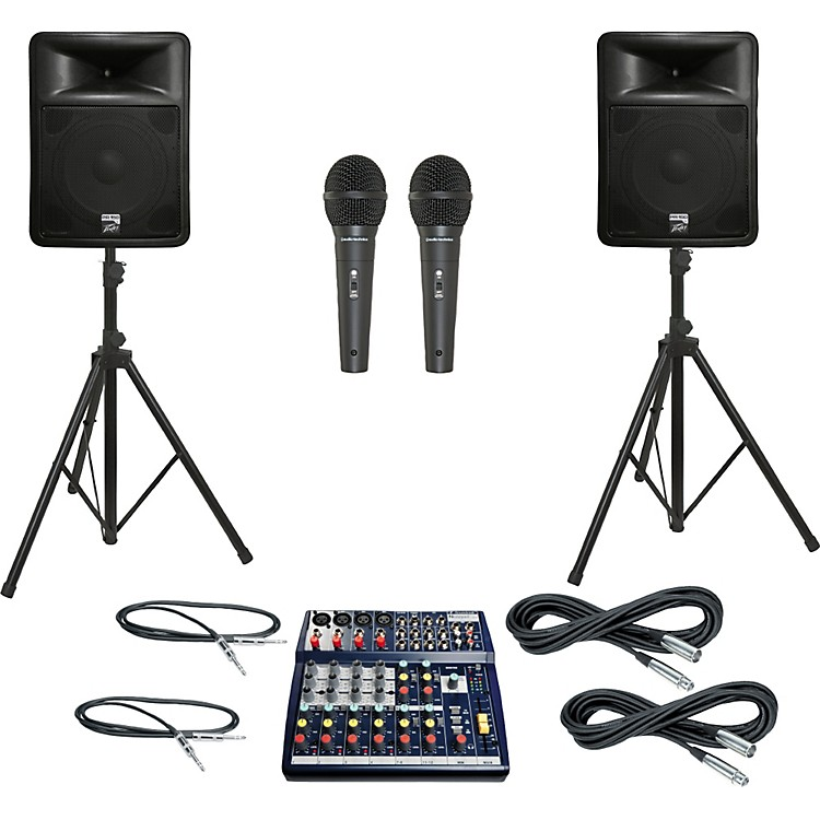 Soundcraft Notepad 124 / PR15D PA Package